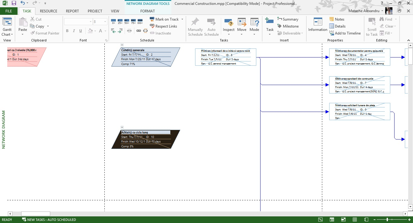 Tutorial Microsoft Project Network Diagram View