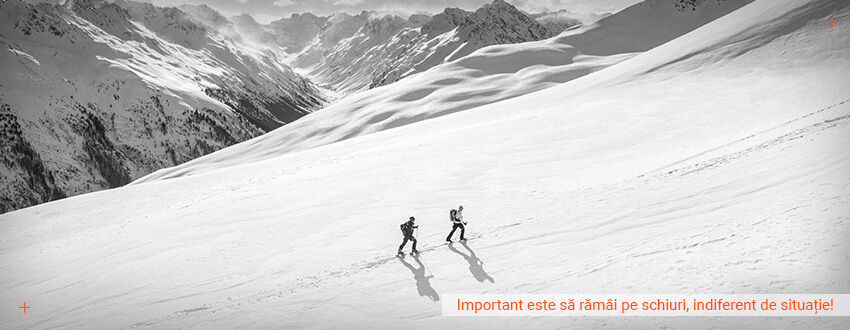 Important este sa ramai pe schiuri, indiferent de situatie!
